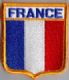 France Embroidered Flag Patch, style 06.